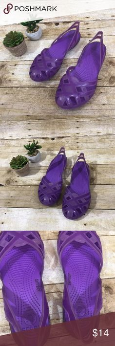 Girls Crocs Jellies size 5 Girls size 5 Crocs Jelly sandals in purple. Like new condition. CROCS Shoes Sandals & Flip Flops