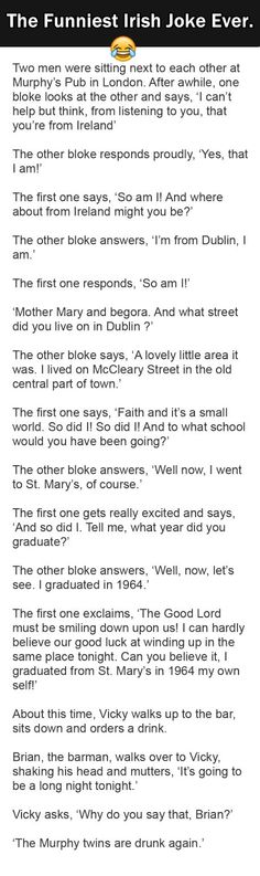 The Best Irish Joke Ever. This is Gold. | Surveee:
