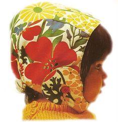 Pattern for a cute baby bonnet