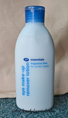 Budget friendly Boots Essentials Fragrance Free Eye Make Up Remover Lotion review via @beautybymissl
