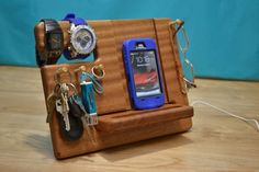 iPhone Stand  iPhone Dock Watch Mens Gift Vallet by MasterWorks888