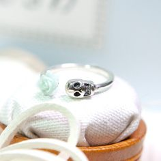 Hey, I found this really awesome Etsy listing at https://www.etsy.com/listing/174375589/mint-rose-and-skull-ring-925-sterling