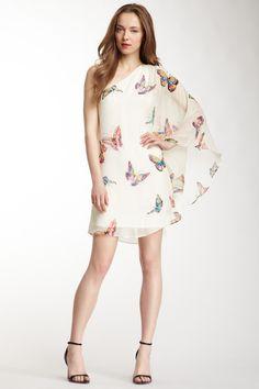 Julie Brown one shoulder silk dress <3  LOVE!! wish i could pull it off