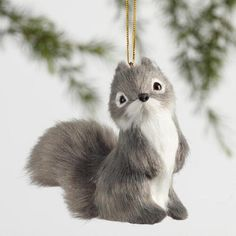 One of my favorite discoveries at WorldMarket.com: Gray Fabric Chipmunk Ornaments Set of 3