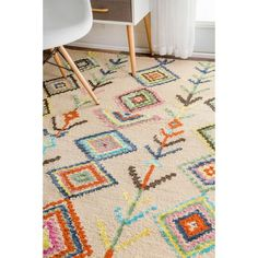 Shop for The Curated Nomad Escolta Hand-tufted Wool Moroccan Triangle Area Rug. Get free delivery On EVERYTHING* Overstock - Your Online Home Decor Store! Plush Area Rugs, Ideas Hogar, Rugs Usa, Hand Tufted Rugs, Accent Rugs, Home Interior, Interiores Design, Decoration, Wool Rug