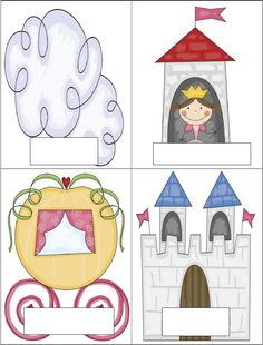 Princess theme Fairy Tale Theme, Fairy Tales, Castle Classroom, Castle Crafts, Doodle People, School Displays, Château Fort, Princess Theme, Vocabulary Cards