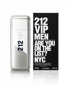 """212 VIP Are You On The List? FOR MEN by Carolina Herrera - 3.4 oz EDT Spray by Carolina Herrera. $79.99. 212 VIP Are You On The List? is recommended for daytime or casual use. This fragrance is 100% original.. After the female version from 2010, Carolina Herrera presents the 212 VIP masculine edition. 212 VIP Men is run by the same slogans. """"Are you on the list?"""" and """"This is a private party."""" The fragrance reflects the style and attitude of the New York party el..."""
