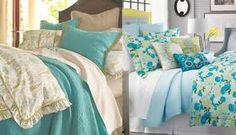 green and turquoise bedding - Google Search