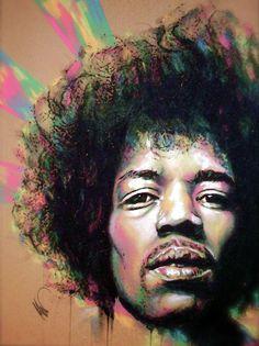 Live Art -Jimi Hendrix by Cole Kluesner. - Love it... www.Art-Competition.net