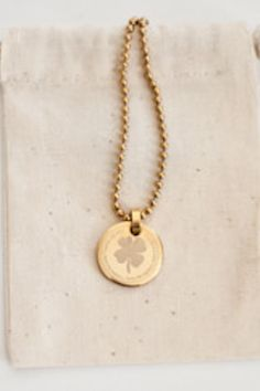"""CLOVER COIN: The smallest coin of all, it exclaims """"I make my own! (Luck, that is.) (.75""""diameter)"""