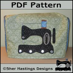 PDF Pattern for Sewing Machine Dust Cover, Sewing Machine Cover Pattern, Tutorial, DIY via Etsy