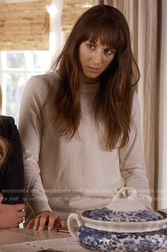 Spencer's white sweater with mesh insets on Pretty Little Liars.  Outfit Details: https://wornontv.net/59440/ #PLL