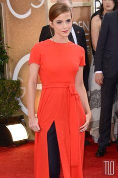 Emma Watson in Christian Dior at the 2014 Golden Globe Awards | Tom & Lorenzo Fabulous & Opinionated