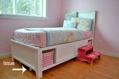 DIY: How to make a storage bed