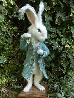 Needle felted Rabbit  By Paula Drage of The Artful Fox