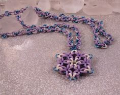 Snowflake Rosette Necklace - on Etsy or visit www.beadmeastory.com for tutorial
