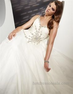 2011 Style Ball Gown One Shoulder Beading Sleeveless Floor-length Chiffon White Prom Dress / Evening Dress Prom Dresses For Sale, Dresses 2013, Homecoming Dresses, Evening Dresses, Formal Dresses, Dresses Dresses, Long Dresses, Banquet Dresses, Grad Dresses