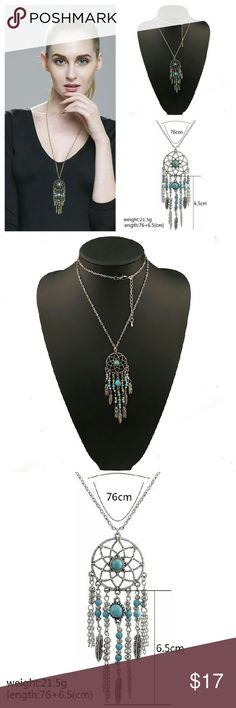 Boho Dreamcatcher Statement Necklace NWT bohemian style antique silver toned necklace.  Hello dear!  Take a look at what I have for sale and don't be afraid to make an offer  Bundle your items for a 10% discount  New items arrive daily so be sure to check back soon Make sure to look out for my buy 2 get one free deals   Happy shopping  Jewelry Necklaces