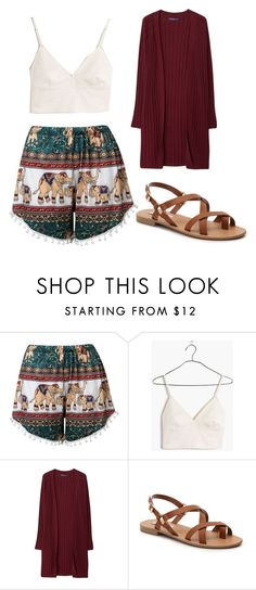"""Untitled #44"" by serah14 ❤ liked on Polyvore featuring Madewell, Violeta by Mango, Steve Madden, cutecardigan and springlayers"