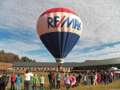 Spotted! The #REMAX Hot Air Balloon made an appearance in Franklin, N.C., last week. Students and teachers gathered around for a first-hand science lesson.