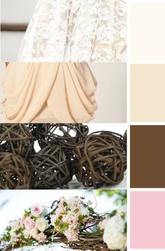 Wedding Colors Off White Chocolate Brown Light Pink And Cream