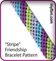 Friendship Bracelet Pattern Stripe Design by My Friendship Bracelet Maker myfbm.com (Video)