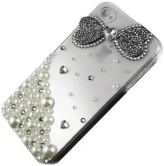 TEAM LUXURY® 3D Bling Crystal Silver Diamond Bow Case Cover for Iphone 4 & 4s Made w/ Swarovski Elements by TEAM LUXURY®, http://www.amazon.com/dp/B007IL492Y/ref=cm_sw_r_pi_dp_Siycrb161HD8E