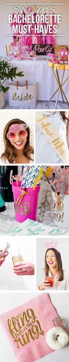 All your bachelorette party must-haves! Shop now! Bachelorette Party Supplies, Beach Bachelorette, Bachlorette Party, Bachelorette Party Invitations, Party Favors, Future Mrs, Cha Bar, Best Friend Wedding, Wedding Colorado
