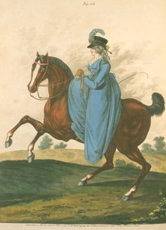 Horse riding. Heideloff's gallery of fashion, 1797