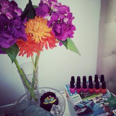 #My bedside full of colour