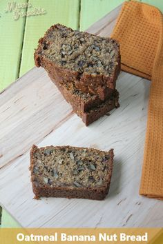 Oatmeal Banana Nut Bread (gluten-free)  ~ from Mom Foodie -  I used Coconut milk and Vegan butter.  I upped the cinnamon and added raisins.