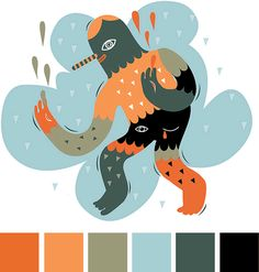 love the color scheme via designworklife. Illus­tra­tion by Irena Zablotska.