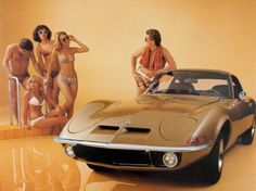 Opel GT and the girls...