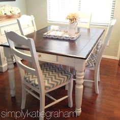 A DIY kitchen table makeover