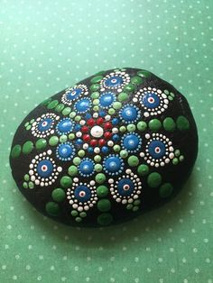 Hand Painted Mandala River Stone