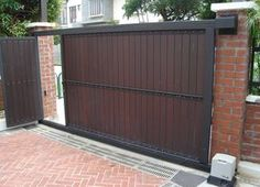 Low Cost Simple Home Gate Design Gorgeous Home Gate Design Iron Architectures Ideas House Front House Gate Design Jwhmss Org Interior Decoration Choice Of Gate Designs For Private Hou. Home Gate Design, House Main Gates Design, Steel Gate Design, Front Gate Design, Small House Design, Door Design, Exterior Design, Simple Gate Designs, Gate Designs Modern