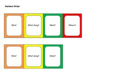 Colourful semantics. Speech and language therapy resources. special education.