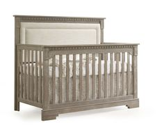 Natart Ithaca 5 in 1 Convertible Crib with Blind-Tufted Linen Weave Upholstered Headboard Panel Nursery Furniture, Kids Furniture, Nursery Decor, Nursery Ideas, Room Ideas, Nursery Room, Girl Nursery, Decor Ideas, Baby Boy Rooms