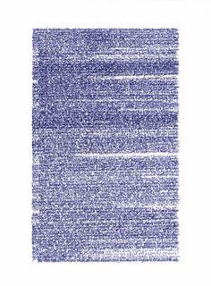 2012 dessin sur papier carbone (bleu) 40 x 30 cm œuvre unique