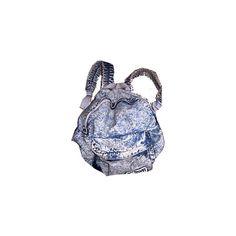 acid washed denim backpack - uploaded by RoxyCurl☆ ❤ liked on Polyvore featuring bags, backpacks, accessories, purses, acid wash denim backpack, rucksack bag, backpacks bags, day pack backpack and knapsack bags