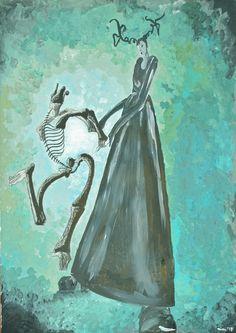 """Acrylmalerei - geRIPpe - """"Tanz mit dem Tod"""" - ein Designerstück von FrolleinNini2 bei DaWanda"""