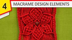 How to make Macrame flower - Useful Design Elements for your macrame projects. #HowTo #Macrame #Flowers