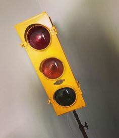 Old converted traffic light lamp