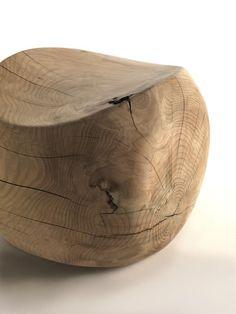 mooie houten poef van benno vinatzer