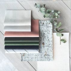 Gum leaf green, Himalayan pink and soft grey for Moodboard Monday
