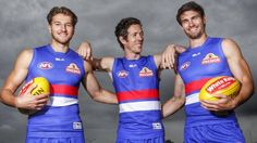 3c3782bc1ae33708dd4afa7695ff9865 650×366 pixels Western Bulldogs, Red White Blue, Doggies, Wetsuit, Football, Boys, Little Puppies, Scuba Wetsuit, Soccer
