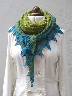 Ravelry: Alma Ella Shawl pattern by Robin Lynn - I can see this with a bundle of ombre minis!  #MiniSkeinMonday