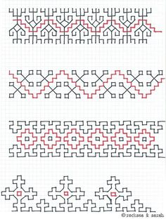 free blackwork embroidery motif and fill patterns - wonderful site - well worth visiting! Kasuti Embroidery, Folk Embroidery, Learn Embroidery, Ribbon Embroidery, Cross Stitch Embroidery, Cross Stitch Patterns, Mexican Embroidery, Hand Embroidery Tutorial, Hand Embroidery Patterns