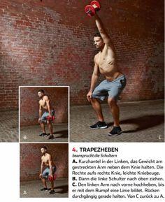 Trapezheben!    JETZT bei Readly lesen:  Men's Health MUSCLE 03/2016 - Seite 83