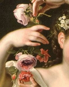 Allegory of Spring, detail / by Bartolomeo Guidobono